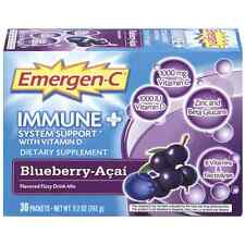 Emergen-C Immune with Vitamin D Fizzy Drink Mix, Blueberry-Acai 30 ea