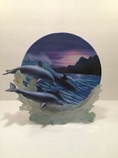 """1999 The Hamilton Collection Plate """"Riding The Waves"""" Serenity At Sea"""