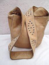 AUTHENTIQUE sac à main  ROOTS cuir  vintage bag
