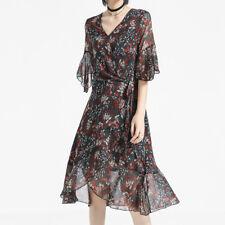 New Women's Designers Floral Print Wrap Dress Close to Australian Size 10