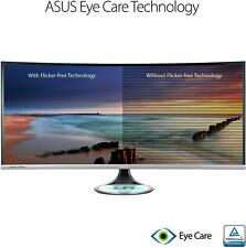 """NEW ASUS Designo Curve MX38VC 37.5"""" Monitor Uwqhd IPS Eye Care with Qi Charging,"""