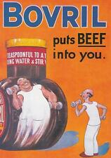 """BOVRIL """" PUTS THE BEEF INTO YOU. """" POSTCARD"""