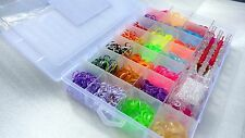 2200 loom bands kit 22 colours 50 s-clips 2 tools 1 loom board friendship loom