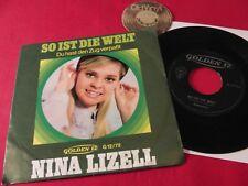 """7"""" Single Nina Lizell So ist der Welt Du hast Zug verpaßt / 1968   Mint-"""