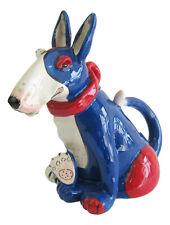 Bull Terrier Collectable Dog Teapot  Ceramic Blue Sky