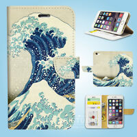 iPhone XS MAX XR X 8 7 6 6S Plus SE 5S Wallet Case Great Wave off Kanagawa W170
