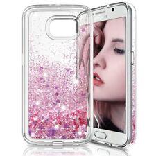 COVER Custodia Glitter Morbida Silicone STRASS per Samsung Galaxy S6 EDGE Rosa