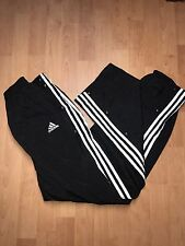 Adidas Retro Vintage 90's Snap Buttons Mens Tracksuit Pants 3 Stripes Size M