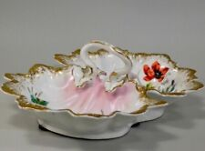 Antique German Scalloped Porcelain Divided Dish Circa 1900.