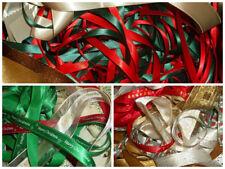 10 X 1 METRO de cinta surtida aleatorio Tema de Navidad mixtos de recortes Paquete