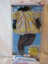 "MADAME ALEXANDER 18"" YELLOW BUBBLE TOP DOLL OUTFIT SET"