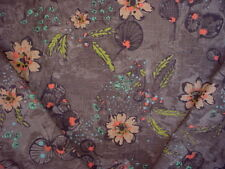 8-1/8y TPSA COVINGTON 5TH AVENUE APRICOT FLORAL LINEN DRAPERY UPHOLSTERY FABRIC