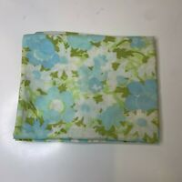 Vintage Pillowcase bedding color blue floral springmaid brand standard size