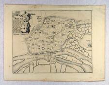 ROUEN Frankreich Original Landkarte 1690 Kartusche France Seine-Maritime SEINE