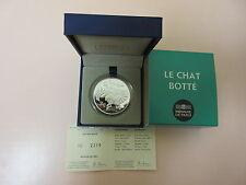 * COFFRET BE- PIÈCE 10 EURO EN ARGENT * LE CHAT BOTTE ** 2012 **
