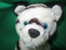 VINTAGE BLACK WHITE ALBINO TIGER CUB BLUE EYES MILACA PLUSH STUFFED ANIMAL
