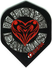"""I Love Darts"" with Celtic Heart and Lettering Dart Flights: 3 per set"