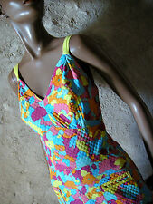 CHIC VINTAGE ROBE PIQUE DE COTON 60'S DRESS VTG SIXTIES KLEID ABITO 1960  (36)