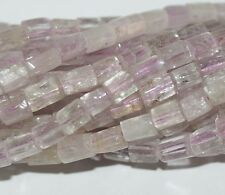 "15"" AAA Pink  Kunzite Tube  loose  Beads Top Quality"