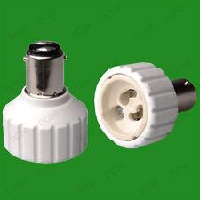 Small Bayonet SBC B15 To GU10 Light Bulb Adaptor Lamp Socket Converter Holder