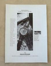 F091 - Advertising Pubblicità - 1992 - JAEGER LE COULTRE , GEOGRAPHIQUE