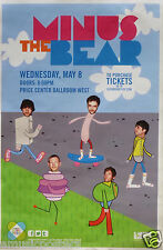 MINUS THE BEAR 2013 SAN DIEGO CONCERT TOUR POSTER - Alternative/Indie Rock Music