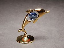 24K Gold Plated DOLPHIN Ornament Made with Genuine STRASS Swarovski Crystal Gift