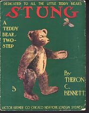 Stung A Teddy Bear Two Step 1908 Sheet Music