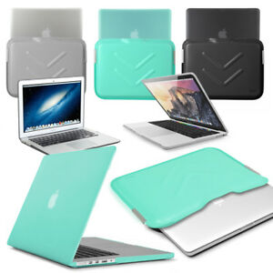 """Rubberized HARD Case with Tough Shock Proof Sleeve for 13"""" Apple Macbook Air Pro"""