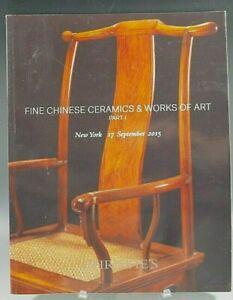 CHRISTIE'S CATALOG FINE CHINESE CERAMICS & WORKS OF ART NEW YORK 09/17/2015