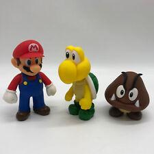 "3X New Super Mario Bros. Mario Goomba Koopa Troopa PVC Figure Plastic Toy 5"""