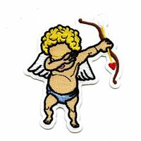 Posing Cupid Angel Fairy Embroidery Patch