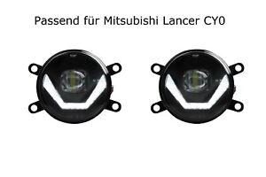 LED Nebelscheinwerfer + Tagfahrlicht Black Cree für Mitsubishi Lancer CY0 LSW4