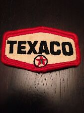 "Vtg Texaco Sew On Patch 3"" Oil Gas Mechanic Garage Greaser Shop Embroidered"