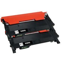 2 Pack Compatible CLT-K409S Black Toner Cartridge for Samsung SU140A CLX-3175FW