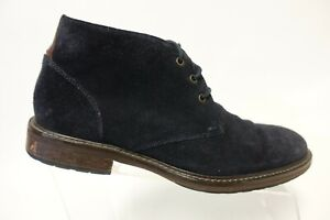 JOHNSTON & MURPHY Suede Blue Sz 8 M Men Chukka Ankle Boots