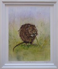Kate Wyatt, Water Vole Snack - Signed Mounted Limited Edition Print