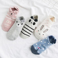 Cartoon Animal Cute Women Cotton Casual Soft Elastic Low Cut Boat Socks Newly
