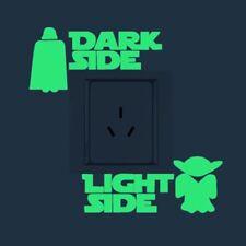 """Dark Side Light Side"" Luminous Switch Sticker Fluorescence Wall Stick Art Decor"