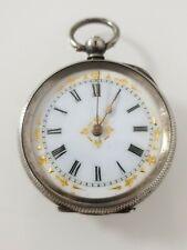 Schöne antike Motiv Taschenuhr in 0.800 Silber pocket watch