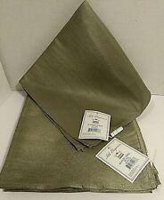 "MERA International Napkins Silk Elegance 20"" Square Napkins Green Lot of 6 NEW"