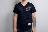 Mitchell & Ness NBA Cleveland Cavaliers Mesh Button Front Jersey 165J-CLECAV-NVY