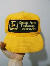 Vintage 70s 80s John Deere Snapback Trucker Hat Cap Patch LOUISVILLE MFG Co USA