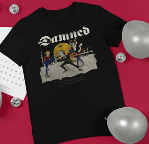 The Damned punk rare  Black Men S-234XL T-shirt F680
