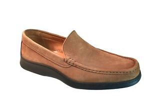 Johnston Murphy Mens Shoes Size 12 Brown Suede Slip On Casual Dress Loafers