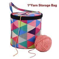 Knitting Yarn Crochet Bag Knitting Needle Yarn Tote Organizer DIY Craft Newly