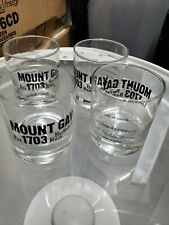 Mount Gay Rum Barbados Clear Rocks Glass set of 4 rare bar barware