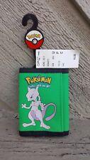 Ultra Rare Mewtwo Green Trifold Wallet Pokemon Nintendo NWT Ships Free Billfold