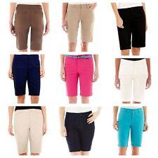 St. John's Bay Women's Shorts Bermuda Secretly Slender 4 6 8 12 14 16 18 20, New
