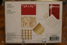 Martha Stewart Christmas Decor Card Kit 20 Cards Lined Envelopes Sealed New
